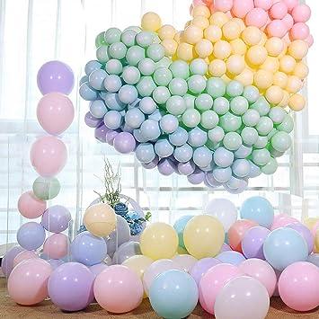 LAKIND Globos pastel de látex para bodas, fiestas de cumpleaños y decoración El paquete de 100