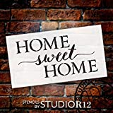"""Home Sweet Home Word Stencil by StudioR12 