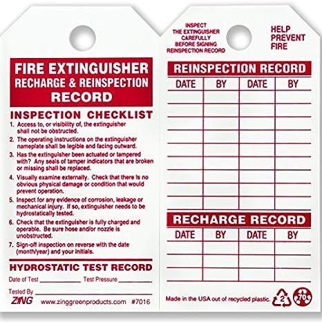 Amazon.com: ZING 7016 etiqueta de seguridad ecológica ...