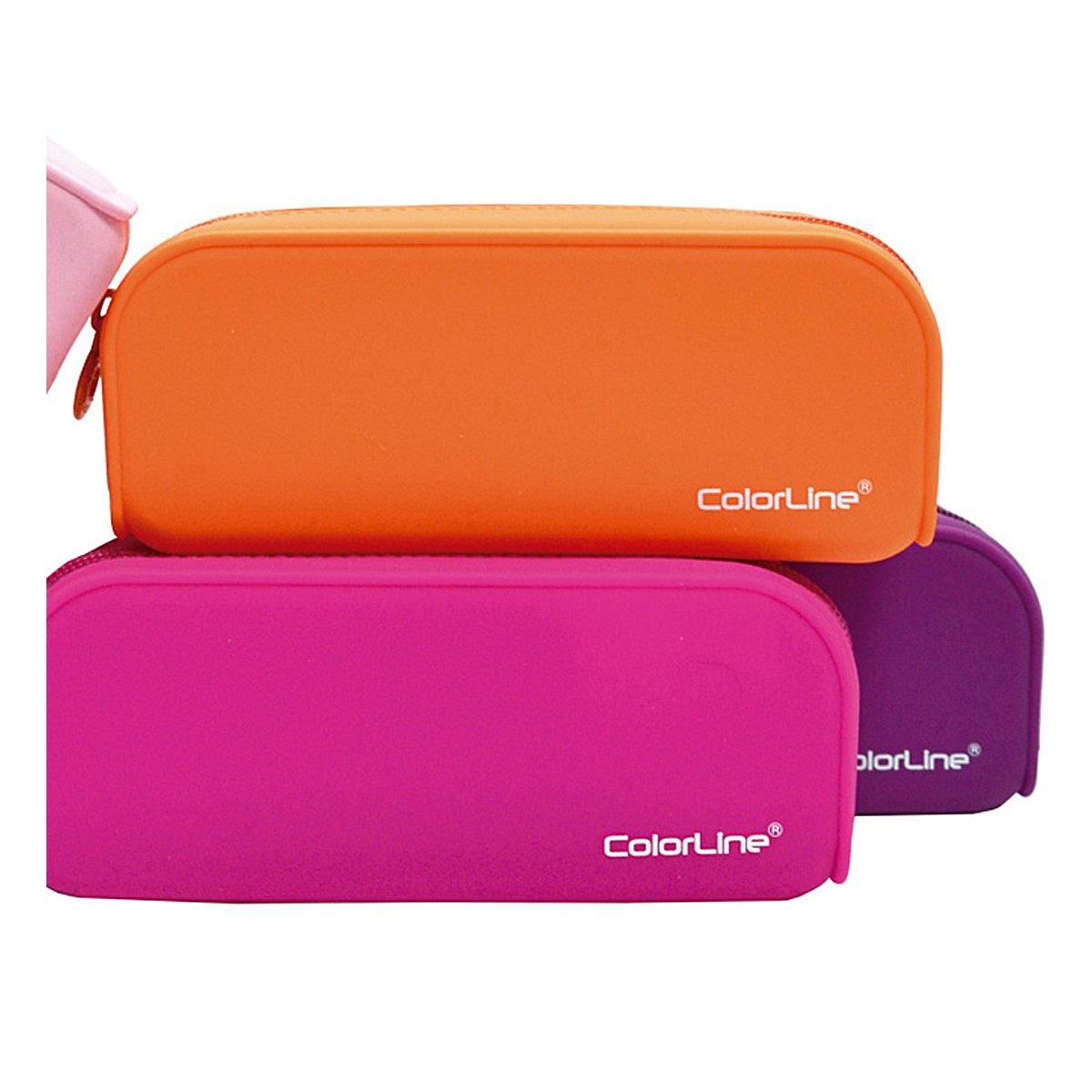 Colorline 58111 - Portatodo de Silicona con Tacto Ultra Soft de Alta Resistencia, Estuche Multiuso para Viaje, Material Escolar, Neceser y Accesorios. ...