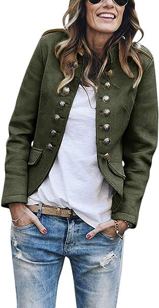 Damen Blazer Business Elegant Büro Anzug Jacke Mantel Slim Fit Kurzjacke 46 48