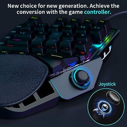 ELYCO Teclado Gaming, Teglado Mecanico Single Hand Teclado mecánico Gaming Switch 36 Teclas Portatil Teclado Teclado Juego una Sola Mano LED ...