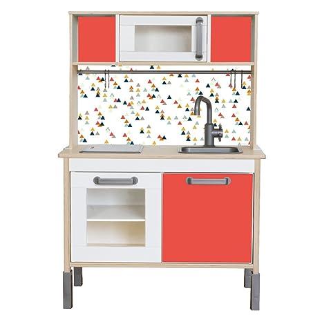Adesivo adatto per il tuo IKEA bambini Cucina DUKTIG (colore rosso ...