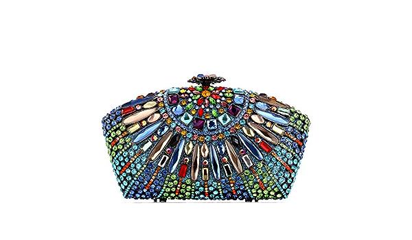 Details about  /Women Diamond Gemstone Evening Party Clutch Bag Luxury Ladies Handbag Purse
