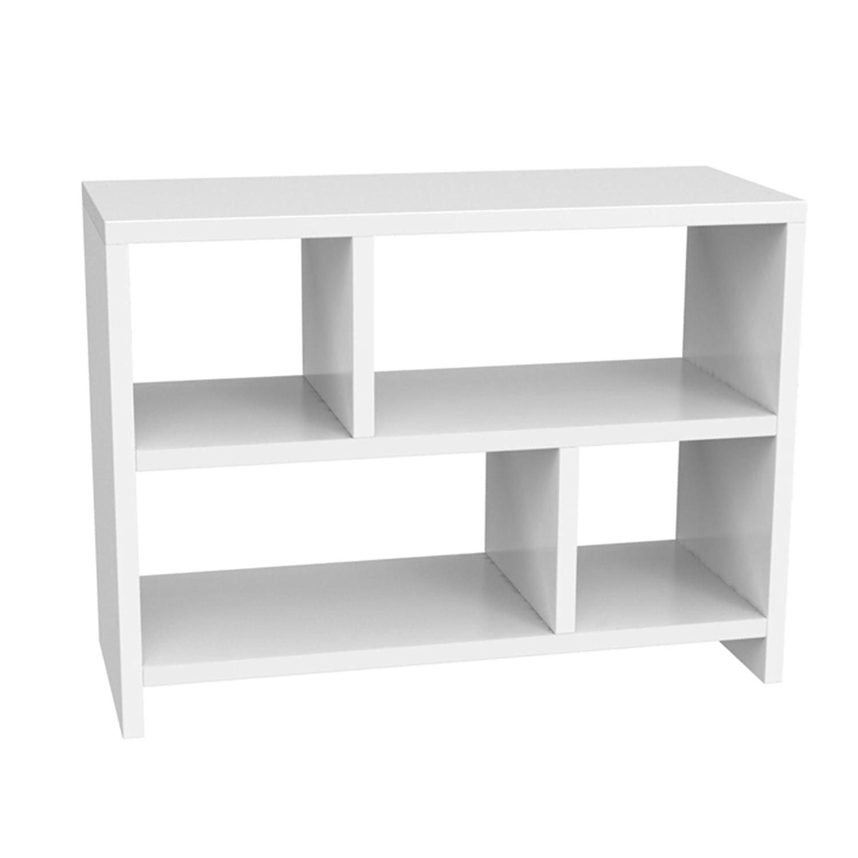 Convenience Concepts Designs2Go Northfield Console Table Bookcase, White