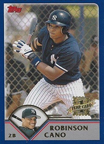 2003 Topps Traded Robinson Cano New York Yankees Baseball Rookie Card #T200
