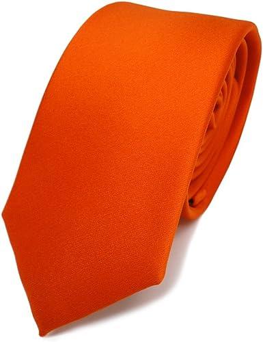 TigerTie - corbata estrecha - naranja rojo-naranja monocromo ...