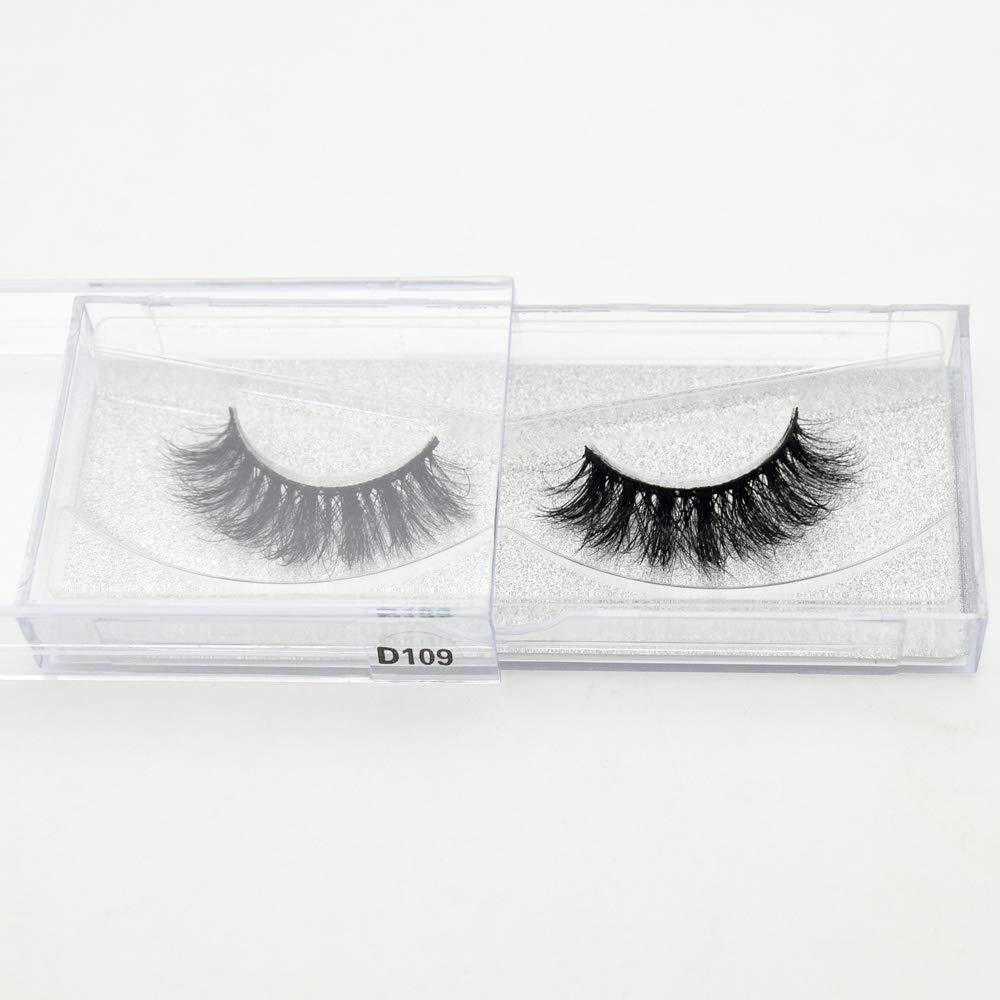Amazon 100 Handmade Eye Lashes 3d Real Mink Makeup Thick Fake