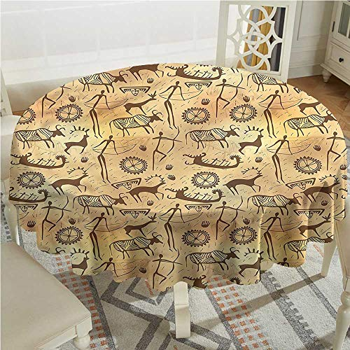 Primitive Anti-Fading Tablecloths Caveman Painting Theme Party Decorations Table Cover Cloth D70 -