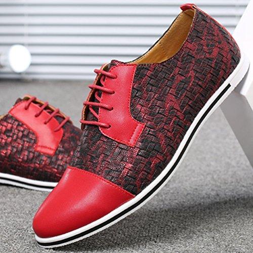 Hombre Feidaeu Zapatos Feidaeu Zapatos Rojo qwYgTtw