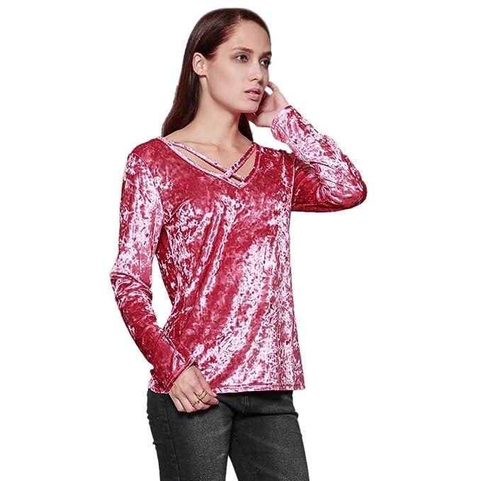 großhandel online Original kaufen billiger Verkauf Bluse Damen Elegant, LHWY Frauen Winter Blusen Fashion Solid ...