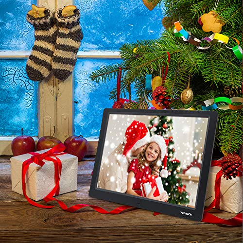 YENOCK Digital Picture Frame, 10.1 Inch IPS Screen Digital Photo Frame 1280×800 Pixels High Resolution Photo/Music/HD Video Player/Calendar/Alarm Auto On/Off Advertising Player with Remote Control by YENOCK (Image #7)