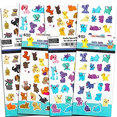 Crenstone Puppy and Kitten Stickers ~ Over 160 Puppies and Kittens Stickers: Toys & Games