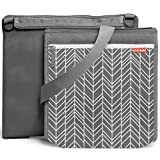 Skip Hop On-The-Go Central Park Outdoor Blanket and Cooler Bag, Grey Feather