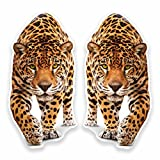 2 x 30cm- 300mm Jaguar Panther Vinyl SELF ADHESIVE STICKER Decal Laptop Car Travel Luggage Label Tag #9645