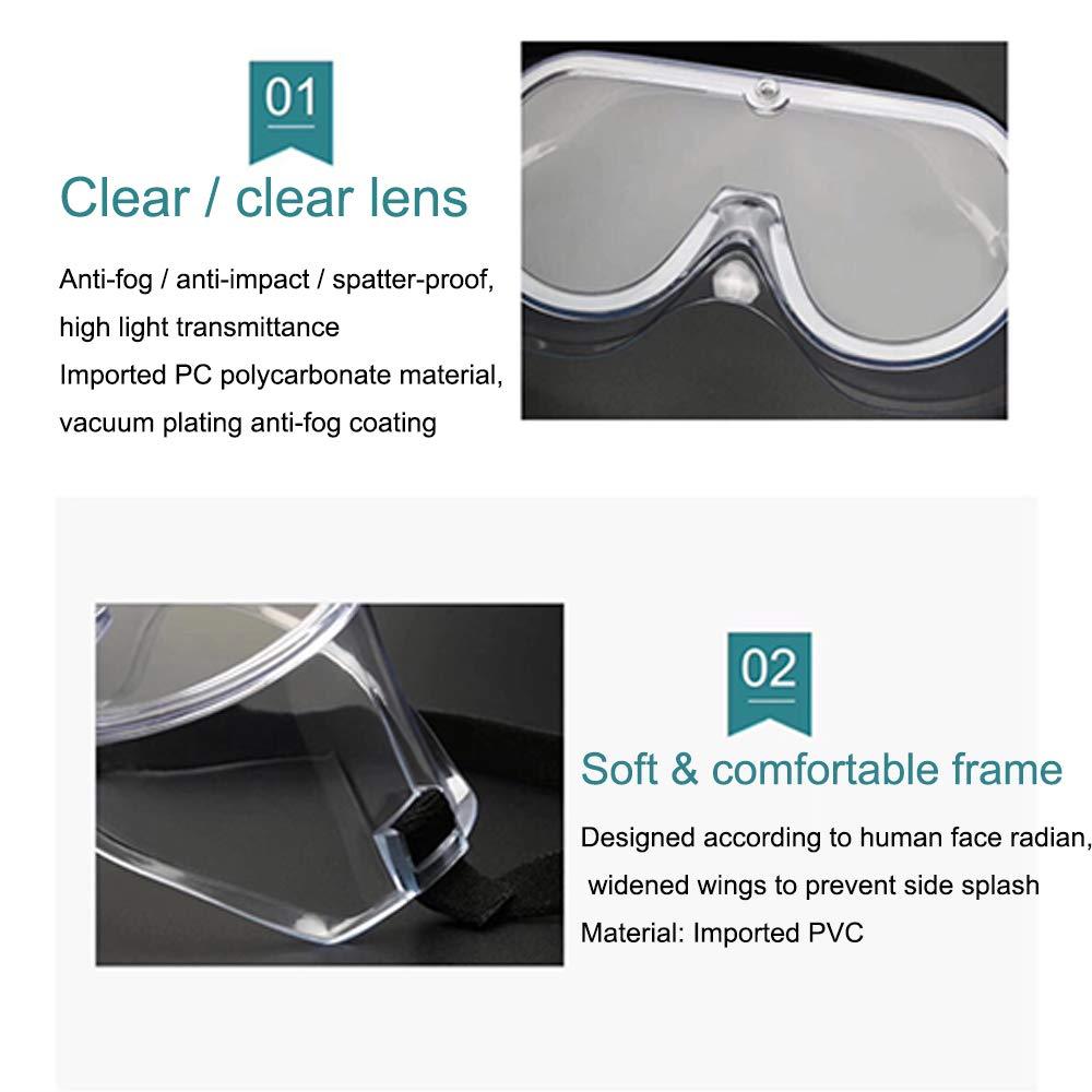 Gafas de seguridad antivaho envueltas de seguridad con impacto ocular selladas 5