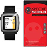 [6-PACK] Pebble Time Screen Protector by Spectre Shield Full Coverage Invisible HD Clear Anti-Bubble Anti-Scratch Film