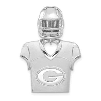 info for 20856 fe4ce Amazon.com: NFL Sterling Silver Green Bay Packers Jersey and ...