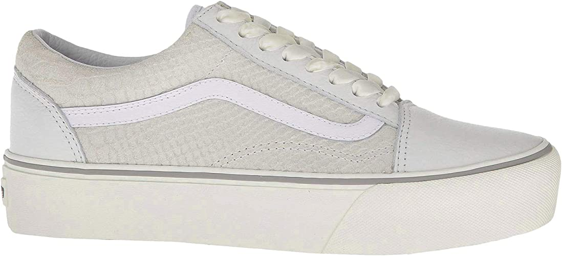 Vans UA Old Skool Platform White Leather 36 EU: Amazon.fr ...