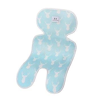 Sitzauflage f/ür Kinderwagen Atmungsaktive Sommer Blau Sitzeinlage Buggy Kindersitz und Babyschale K/ühlt und sch/ützt den Sitzbezug vor Flecken
