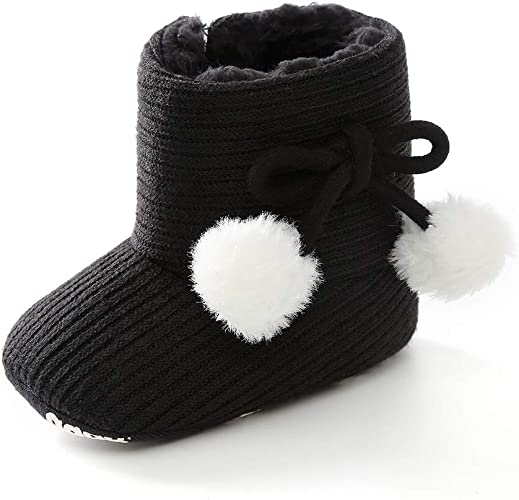 Baby Girls Boy Snow Boots Winter Booties Infant Toddler Newborn Crib Shoes US