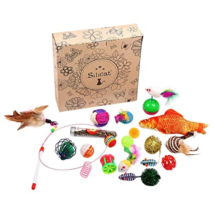 Bloomma 20pcs Juguetes para gatos Juguetes para gatitos, Gato de mascotas Juego de juguetes Divertido
