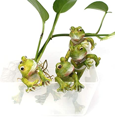 4 PCS SET Home Decor Frogs Kenyan Art | Made in Kenya Handmade Frogs Soapstone carvings Miniature Animals
