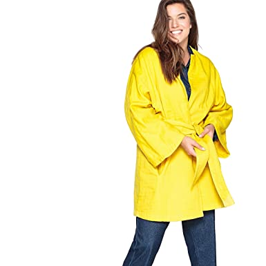 bb1d69ce078 La Redoute Castaluna Womens Oversized Cotton Kimono Jacket Nbsp  Yellow Size  US 12 14 -