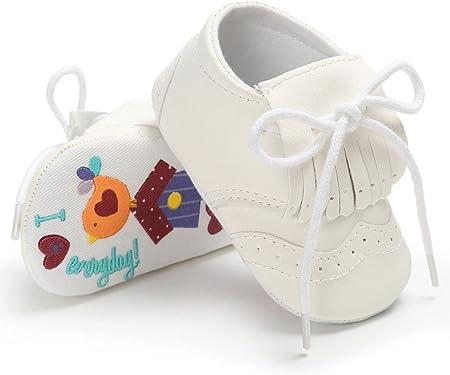 Fossen Zapatos de bebé Niña Borla Zapatos de Lenguado Graffiti