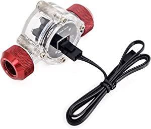 Bitspower Flow Sensor, Deep Blood Red