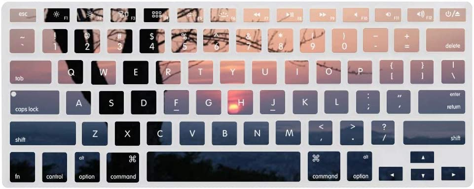 Keyboard Cover Skin for Best Night Views Tree Silicone Keyboard Skin,13.3 inches