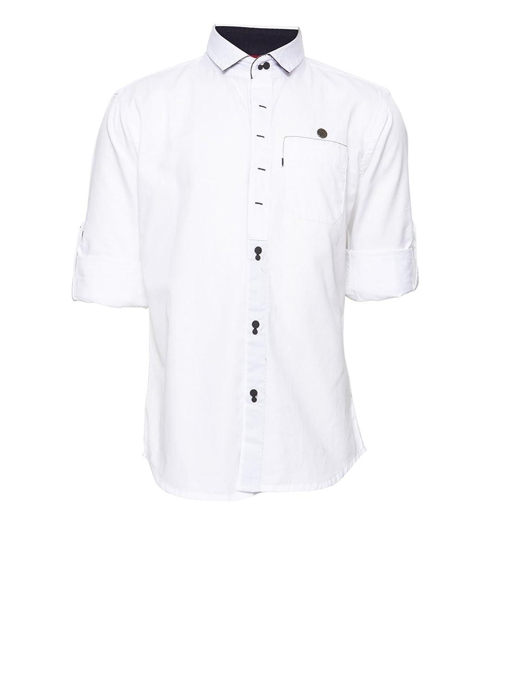 de874efaf00d Oks Boys Cotton Fabric Comfort Fit White Color Shirt for Boys: Amazon.in:  Clothing & Accessories