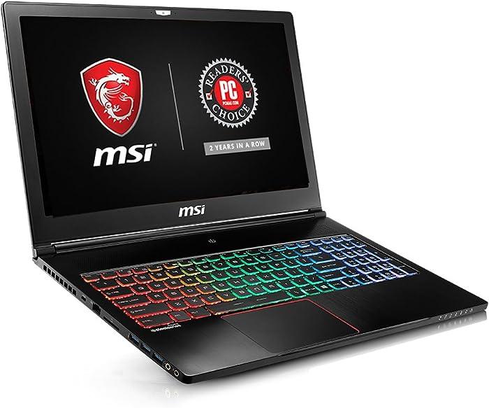 "MSI GS63 STEALTH-062 15.6"" Ultra Thin and Light Gaming Laptop i7-7700HQ GTX 1050 2G 16GB 512GB SSD + 1TB, Aluminum Black"