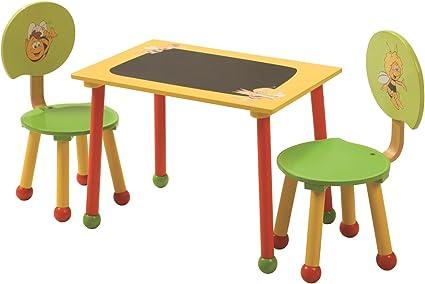 Roba 50811 Biene Maja Set di Tavolino e Sedie per Bambini, Multicolore