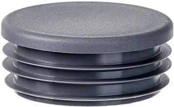 Rundstopfen 10 St/ück 19 mm Grau Kunststoff Endkappen Verschlusskappen