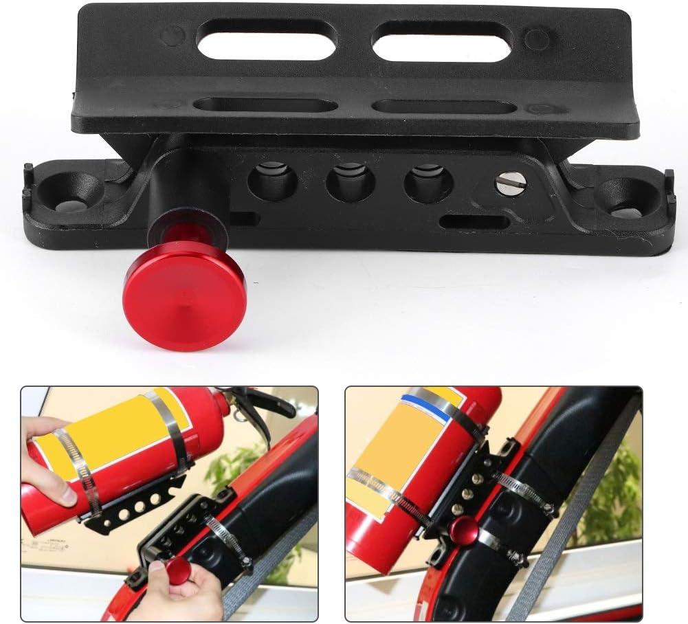 Dingln Extintor De Soporte del Montaje De Ajuste Ajustable For J-E-E-P Wrangler Sport//JK//Sahara Rojo