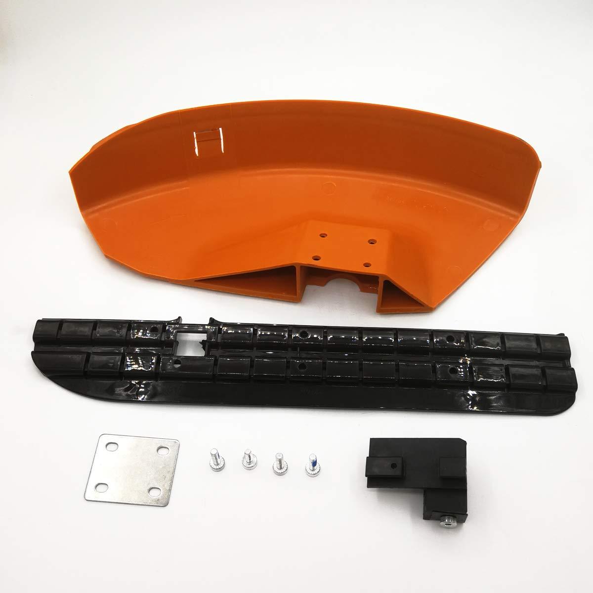 420mm / 260mm Protector Falda Placa de Soporte Kit de Cuchillas de Tornillo para STIHL FS55 FS110 FS130 FS160 FS180 FS220 FS240 FS250 Cortadora Césped ...