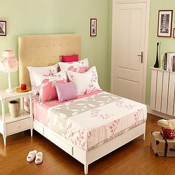 Wmshpeds Textil hogar Actividad algodón Impresión Kay Cama Cubierta de colchón de algodón Escudo Anti - Skid Caso Solo: Amazon.es: Hogar