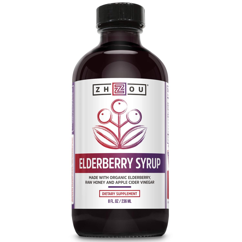 Elderberry Syrup with Organic Elderberry, Raw Honey, Apple Cider Vinegar, and Propolis