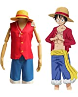 One Piece Monkey D Luffy New World Costume Outfits Halloween & Cosplay Party S-XXL