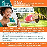 2 in 1 - Diet & Nutrition + Exercise & Fitness Home DNA Test Kit I Leverage Genetic testing to uncover the optimal dietary profile and the ideal physical activity just for you. Your personalized plan.