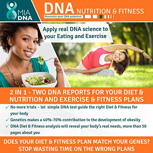 2 in 1 - Diet & Nutrition + Exercise & Fitness Home DNA Test Kit I Leverage Genetic testing to uncover the optimal dietary profile and the ideal physical activity just for you. Your personalized plan. (The Best Home Dna Test)