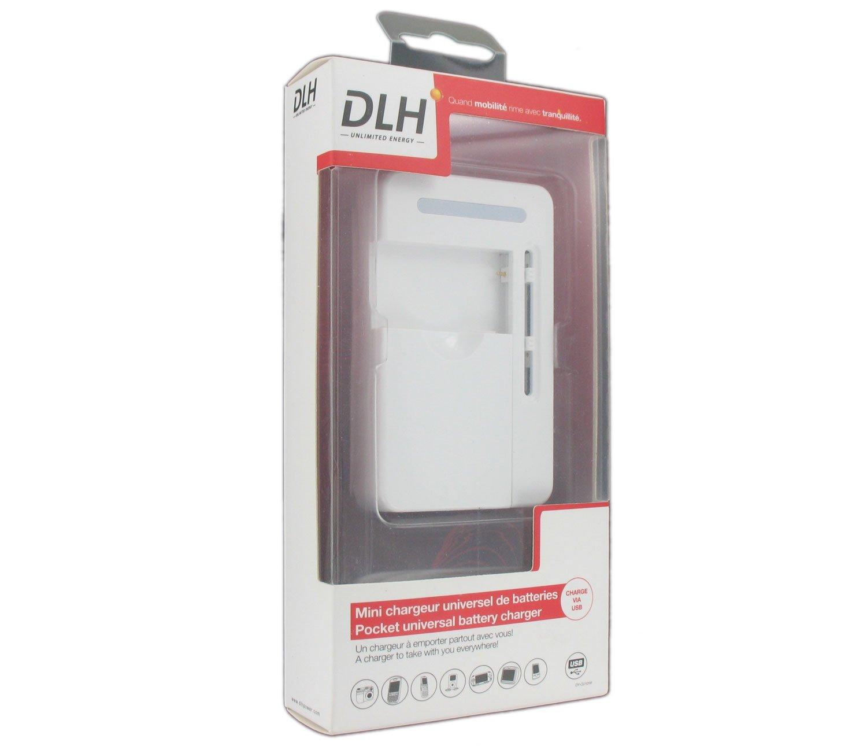 DLH Cargador Universal para batería Fotos/vídeo/teléfono ...