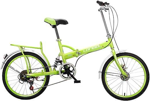 Bicicleta plegable 20 pulgadas adulto velocidad ultra ligero ...