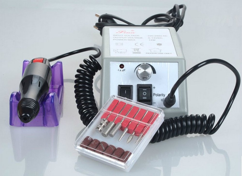 Electric Nail Drill Machine Manicure Set Gels Acrylics Natural Nails AIBER