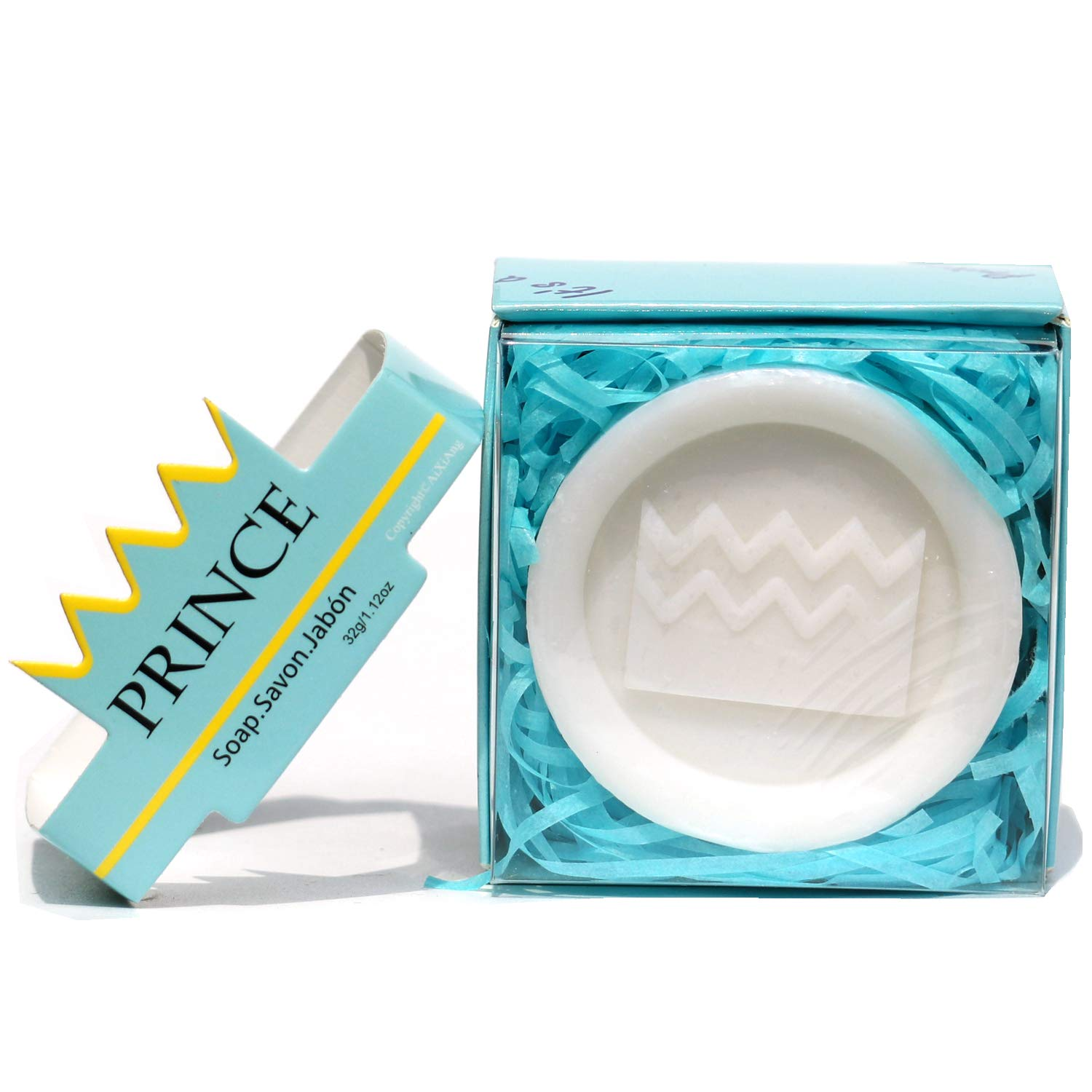 AIXIANG 24 Pack Handmade Prince Blue Crown Style Soap Favors for Baby Shower Favors Baby Birthday Decorations for Boy by AiXiAng