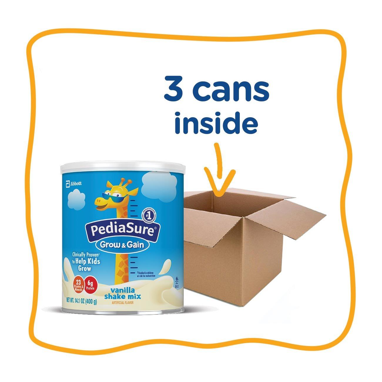 PediaSure Grow & Gain Non-GMO Vanilla Shake Mix Powder, Nutrition Shake for Kids, 14.1 oz, 3 Count by Pediasure (Image #12)