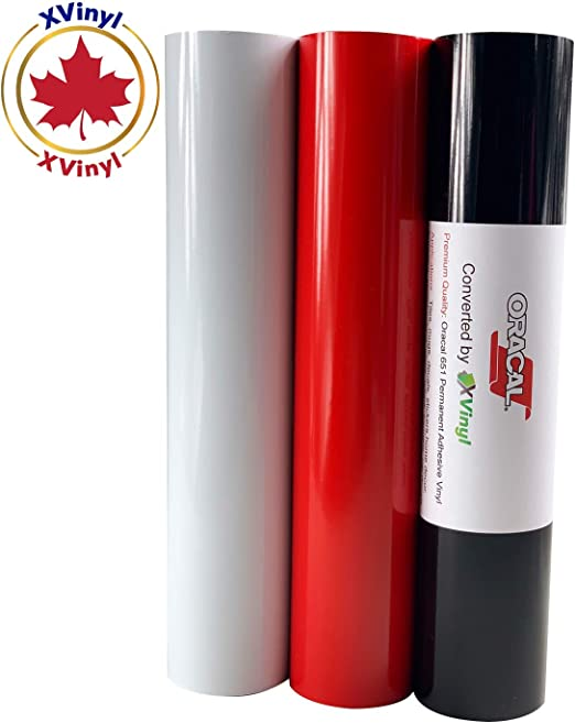 Oracal Transfer Tape Paper Roll for Vinyl 631 and Cricut Vinyl - Adhesive Application Tape Works Great with Oracal 651 12 x 20Ft Bonus Maple Leaf Permanent Decal