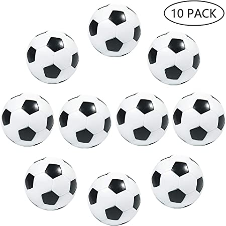 MOOKLIN ROAM 10 PCS Mesa Mini plástico Pelotas de fútbol 32mm Bolas del balompié de la Tabla para Actividades Deportivas,Adultos Fiesta cumpleaños favores Bolsas Fiesta: Amazon.es: Juguetes y juegos
