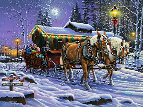 A Tred Down Memory Lane Christmas Jigsaw Puzzle 550 Piece